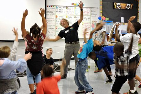 Randy Barron, a John F. Kennedy Center for the Performing Arts teaching artist, led workshops last October as part of the CECA-CMCSS Partners in Education program. (APSU)