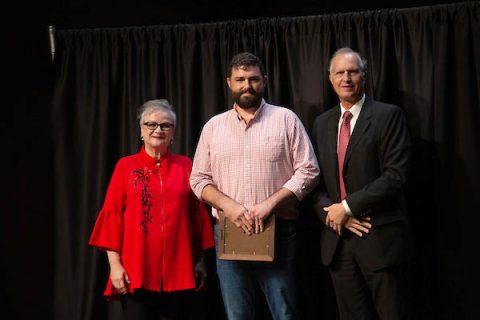 Austin Peay President Alisa White, Dwayne Estes and Rex Gandy. (APSU)