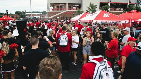 Austin Peay Football's pregame Tailgate Alley. (APSU Sports Information)