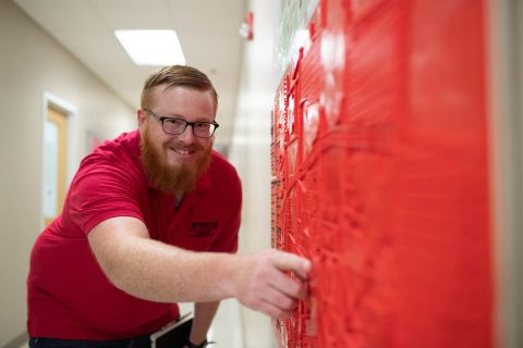 Austin Peay State University student Michael Hunter needed 168 hours to print the full-scale campus map and seven hours to print the legend. He created the map in about 45 days. (APSU)