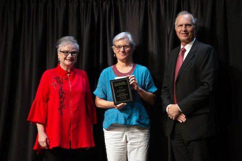 Austin Peay President Alisa White, Jill Eichhorn and Rex Gandy. (APSU)