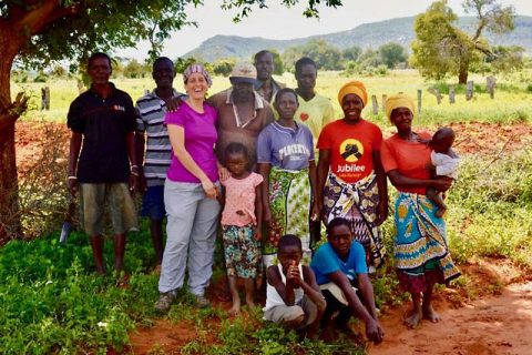 Lynn Von Hagen is developing community workshops to increase livelihood stability and reduce human-elephant conflict. (APSU)