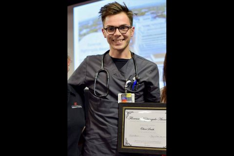 Austin Peay State University's Oliver Smith won Vanderbilt's Florence Nightingale Award. (APSU)