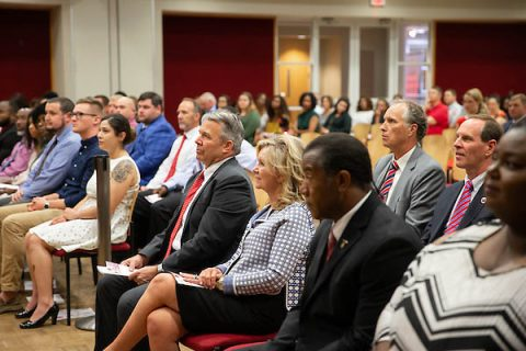 U.S. Senator Marsha Blackburn attends Austin Peay State University's Military and Veteran Graduate Recognition Ceremony. (APSU)
