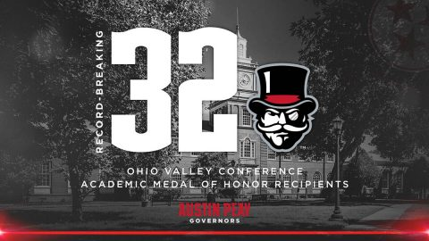 Austin Peay State University has 32 Student Athletes receive OVC Academic Medal of Honor. (APSU Sports Information)