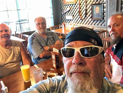 Breakfast with my crew - Steven, Mike, Pete.