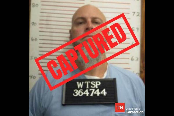 Escaped inmate charged with the murder, Curtis Ray Watson has been taken into custody in Henning, Tennessee.