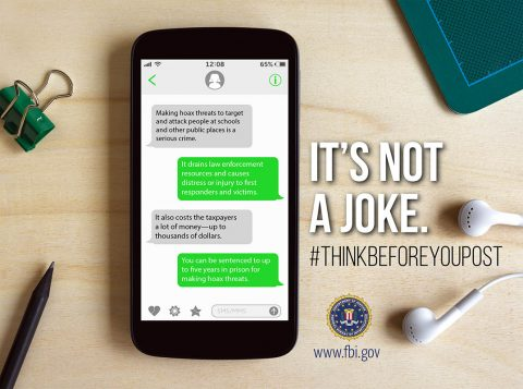 FBI: It's Not A Joke, Think Before You Post