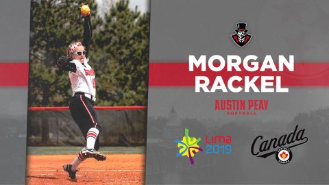 Former Austin Peay Softball star Morgan Rackel wins silver medal as part of Team Canada's national softball team at the Pan America Games. (APSU Sports Information)