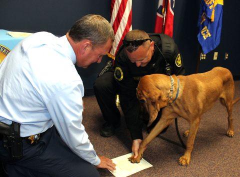 Montgomery County Sheriff's Office K-9 Deputy Roscoe