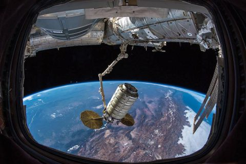 NASA use SlingShot deployer on Internatonal Space Station to send student made CubeSat into Space. (NASA)