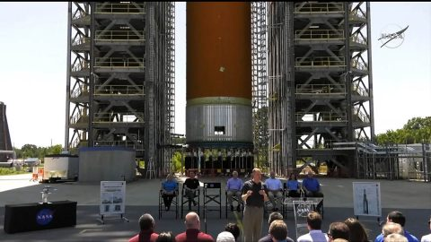 On Aug. 16, 2019, NASA Administrator Jim Bridenstine announced the agency's Marshall Space Flight Center in Huntsville, Alabama, will lead the Human Landing System Program. Bridenstine was joined by Representatives Mo Brooks and Robert Aderholt of Alabama and Representative Scott DesJarlais of Tennessee. (NASA Television)