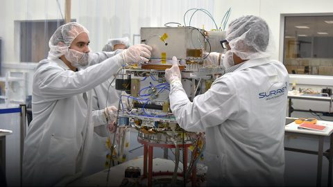 NASA's Deep Space Atomic Clock, the first GPS-like technology for deep space, started its one-year space mission on Friday. If the technology demonstration proves successful, similar atomic clocks will be used to navigate the self-flying spacecraft. (General Atomics Electromagnetic Systems)