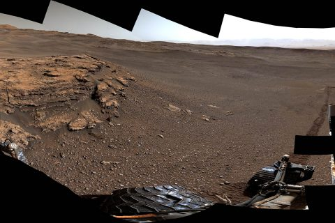 "This panorama of a location called ""Teal Ridge"" was captured on Mars by the Mast Camera, or Mastcam, on NASA's Curiosity rover on June 18th, 2019, the 2,440th Martian day, or sol, of the mission. (NASA/JPL-Caltech/MSSS)"