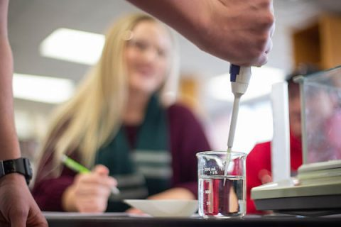 Austin Peay State University students perform science experiments while preparing to become STEM teachers. (APSU)