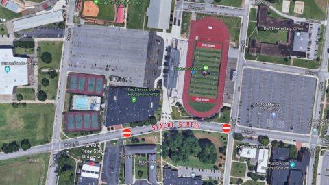 APSU Football's Stache Street Map