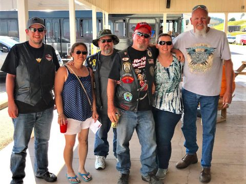 Friends I Met At Sturgis From Denver, A Couple Of Marines In This Photo.