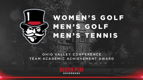 Austin Peay Women's Golf, Men's Golf, Men's Tennis, receive OVC Team Academic Achievement Award. (APSU Sports Information)