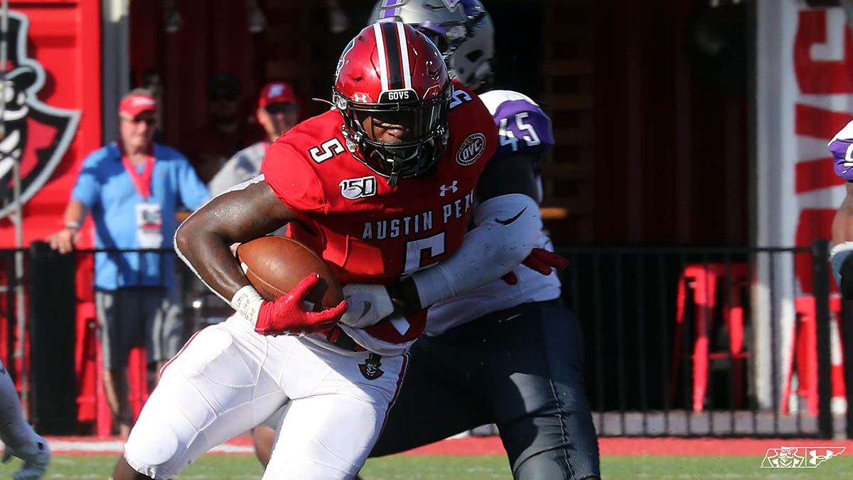 Austin Peay Football hits the road this Saturday to take on Mercer. (Robert Smith, APSU Sports Information)