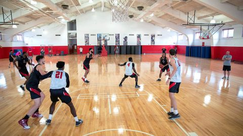Austin Peay Men's Basketball began fall practice Tuesday at the Red Barn. (APSU Sport Information)