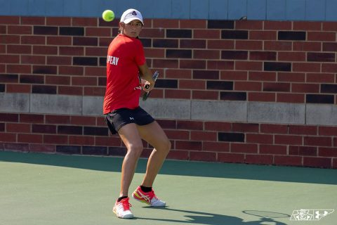 Austin Peay Women's Tennis sophomore Danielle Morris wins her flight at University of Central Arkansas Fall Classic, Saturday. (APSU Sports Information)