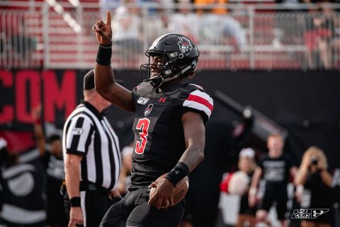 Austin Peay Football junior quarterback JaVaughn Craig threw for 220 yards and two touchdowns in win over Jacksonville State, Saturday afternoon. (APSU Sports Information)