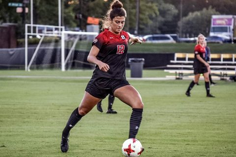 Austin Peay Women's Soccer plays Evansville at Morgan Brothers Soccer Field, Sunday. (APSU Sports Information)