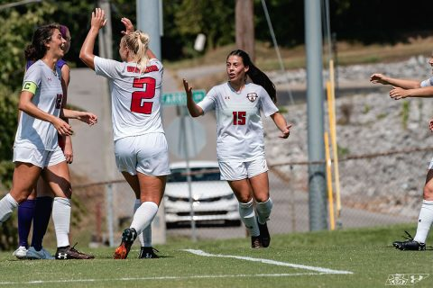 Austin Peay Women's Soccer defeats Evansville Purple Aces 2-0 Sunday at Morgan Brothers Soccer Field. (APSU Sports Information)
