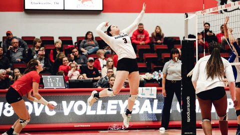 Austin Peay Women's Volleyball junior Brooke Moore had 29 kills and 22 digs in win over Missouri State, Saturday. (APSU Sports Information)