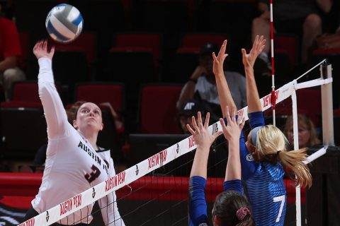 Austin Peay Women's Volleyball sophomore Brooke Moore had 17 kills in win over Eastern Illinois, Saturday. (APSU Sports Information)