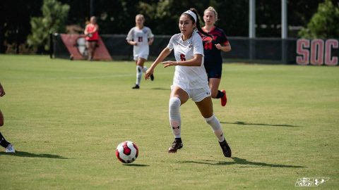 Austin Peay Women's Soccer allow two first half goals in loss to UT Martin Sunday afternoon at Morgan Brothers Soccer Field. (APSU Sports Information)