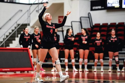 Austin Peay Volleyball junior Chloe Stitt leads Govs with 22 kills on Day 1 of Mizzou Invitational. (APSU Sports Information)