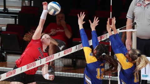 Austin Peay Volleyball junior Brooke Moore has a season-best 20 kills in loss to Kansas City Saturday. (APSU Sports Information)