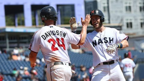 Nashville Sounds Matt Davidson's Sacrifice Fly Wins it for Soundse in the 13th Inning. (Nashville Sounds)