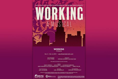 "Austin Peay Department of Theatre and Dance will present ""Working: A Musical"" October 3rd-October 6th at the Trahern Theatre. (APSU)"