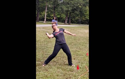 Heather Nolan won the women's hammer throw in distance. (APSU)