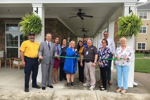 Clarksville-Montgomery County Green Ribbon Cutting ceremony for Arcadia Senior Living.
