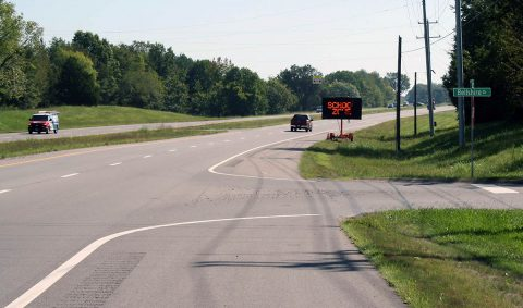 New school zone on Martin Luther King Jr. Parkway/SR 76.