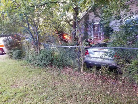 Clarksville Police responded to a crash on Greenwood Avenue and found that Bailey Roberts had drove his vehicle into the side of a house.