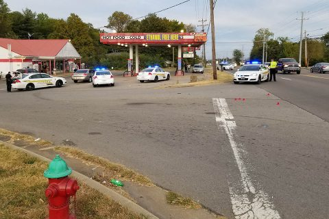 Clarksville Police respond to a shooting in progress at Dover Road and Aurelia Lynn Drive late Wednesday afternoon.