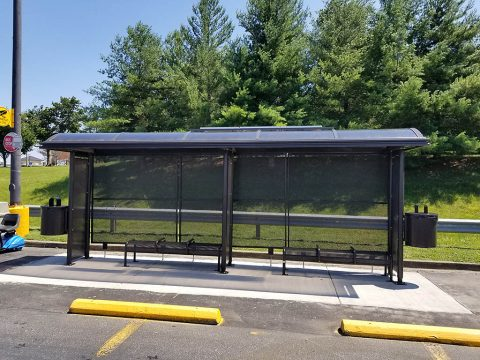 The Clarksville Transit System replaced a shelter at Walmart on Fort Campbell Boulevard in July 2019. The new shelter is 5-feet larger than the old shelter, has two ADA accessible spots and is equipped with two solar security lights.