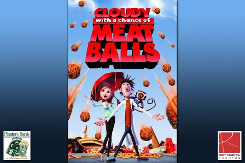 """Cloudy With A Chance Of Meatballs"" showing this Sunday, September 22nd, at the Roxy Regional Theatre."