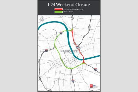 I-24 Weekend Closure