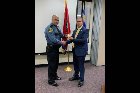 Montgomery County Sheriff's Office promotes John Bushnell to Corporal.