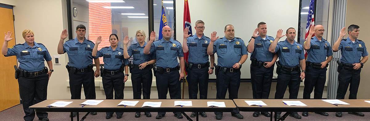 Montgomery County Sheriff's Office swears in Eleven new