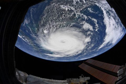 Astronaut Christine Koch of the International Space Station captured this image of Hurricane Dorian outside the ISS windows the morning of September 2nd, 2019. (NASA)