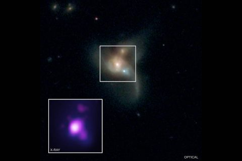 X-ray. (NASA/CXC/George Mason Univ./R. Pfeifle et al.; Optical: SDSS & NASA/STScI)