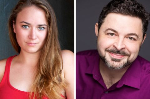 "Emily Rourke as Cassie and APSU theatre professor Darren Michael as Zach star in ""A Chorus Line"" at the Roxy Regional Theatre, September 6th - September 28th."