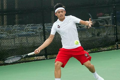 Austin Peay Men's Tennis played North Alabama and Cumberland at the APSU Hidden Duel, Friday. (APSU Sports Information)