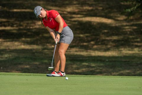 Austin Peay Women's Golf sophomore Shelby Darnell leads the charge for the Govs at Chris Banister Classic. (APSU Sports Information)